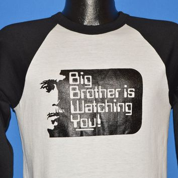 80s Big Brother Is Watching You 1984 Orwell t-shirt Medium