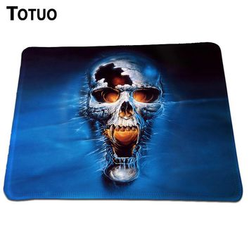 Skull Mouse Pad Background DIY Printing Pattern Optical Computer Mouse Mat Mice Pad Soft Silicone Lock Edge Pad