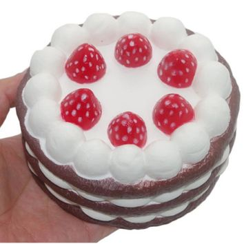 Cute Scented Soft Squishy Strawberry Cake Bun Bread Toys