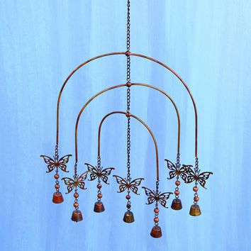 Flamed Butterfly Mobile Wind Chime