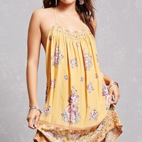 Tassels N Lace Floral Dress
