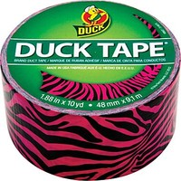 Duck Tape® Brand Duct Tape, Pink and Black Zebra, 1.88x 10 Yards