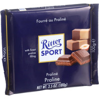 Ritter Sport Chocolate Bar - Milk Chocolate - Praline Filling - 3.5 Oz Bars - Case Of 13