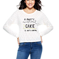 Party Without Cake Long-Sleeve Top - Cream