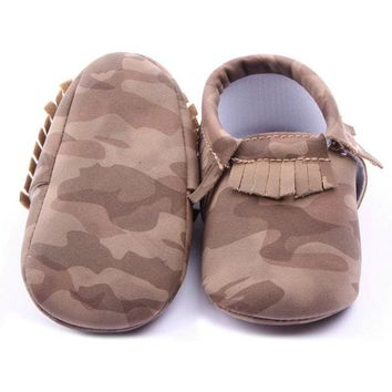 Baby Girl Camouflage Crib Shoes Army Camo Fatigue Style