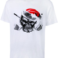 Christmas Skull Performance T-Shirt (White)