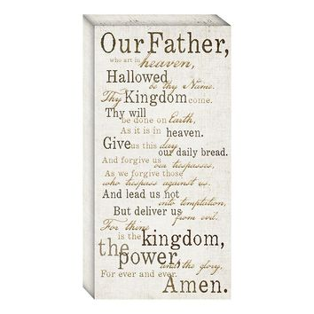 ''Lord's Prayer'' Canvas Wall Art (Neutral)