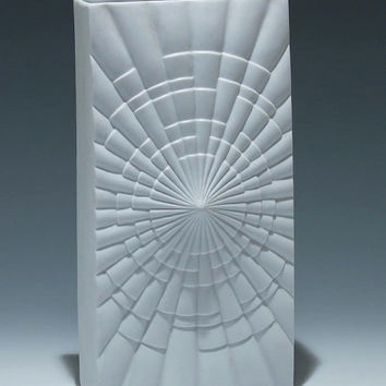 Big Rheinpfalz Hartporzellan Vase made in the 60's-Mid Century Modern Design , Bisque Collection