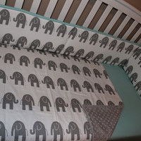 ELE Elephant 5 Piece Crib Bedding Set