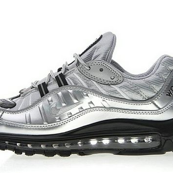 Nike Air Max 98 X Supreme Metallic Silver Black