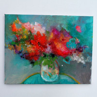 "Still Life Painting Abstract Painting Floral ""Colorful Summer Bouquet"""