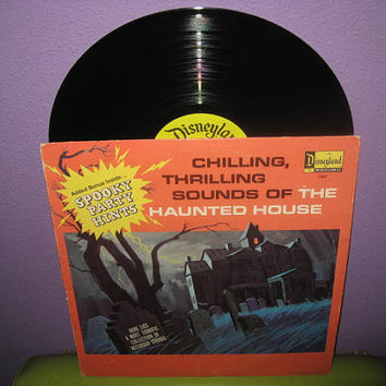Vinyl Record Album Disney's Chilling, Thrilling Sounds of the Haunted House LP 1964 Halloween Children's Classic