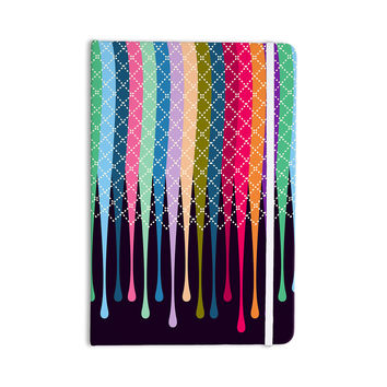 "Famenxt ""Rainbow Drops"" Multicolor Argyle Everything Notebook"