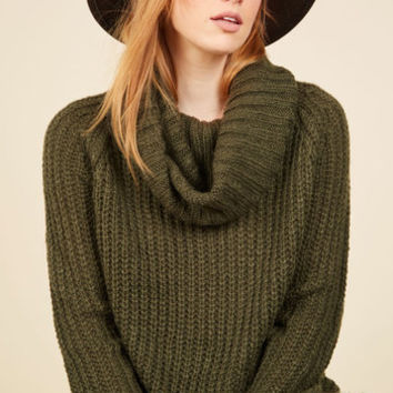 Homecoming 'Round the Mountain Sweater in Moss | Mod Retro Vintage Sweaters | ModCloth.com