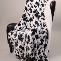 Mink and Sherpa Luxurious Blanket - Cow