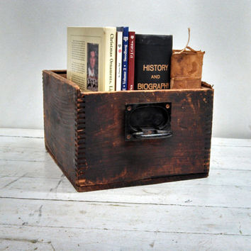 Industrial Cabinet Wooden Drawer - storage, desk organizer, magazine rack, book holder