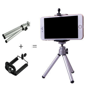2 In One Mini  Tripod + Phone Holder Bracket Holders Stand Tripod Bracket Stand Mount Monopod Digital Camera for Gopro Hero 3 4