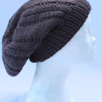 Slouchy Beanie Hat - Mens - Pewter Grey