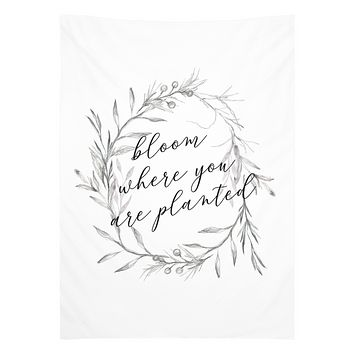 Bloom Where You Are Planted Tapestry