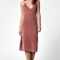 Kendall and Kylie Crinkle Ribbed Midi Dress at PacSun.com