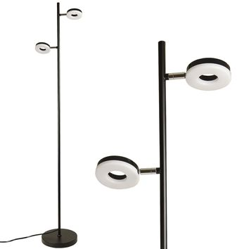 Light Accents Saturn LED Floor Lamp - Two Head Adjustable Modern LED Floor Lamp