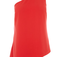 Tops & Blouses | Red One Shoulder Top | Oasis