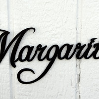 Margarita Word Decorative Metal Wall Art