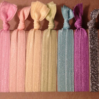 Pastels Collection Set of 7 Softies hair ties by Opus 19
