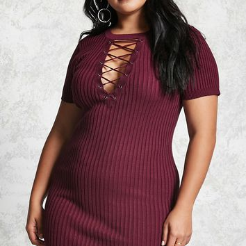 Plus Size Sweater-Knit Dress