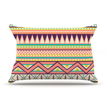 "Louise Machado ""Ethnic Love"" Tribal Geometric Pillow Case"