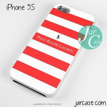 Ralph Lauren red white strips Phone case for iPhone 4/4s/5/5c/5s/6/6 plus