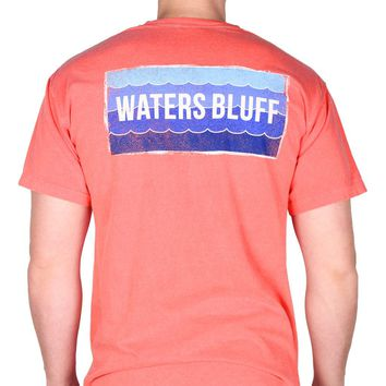Wave Tee Shirt in Watermelon Red by Waters Bluff