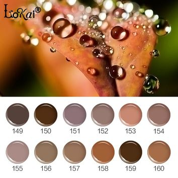 UV Painting Nail Gel Varnish Semi Permanent 6ML UV Nail Gel Polish Soak OffGel Lacquer DIY Nail Art Design Brown Series 149-160