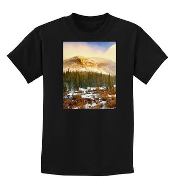 Nature Photography - Mountain Glow Childrens Dark T-Shirt