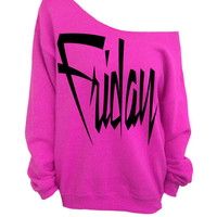 Pink Slouchy Oversized Sweatshirt - Friday