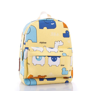 Lovely Cartoons Cute Animal Backpack = 4887789764