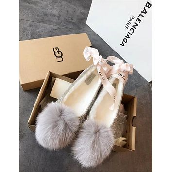 Ugg Pom Pom Slipper With Crystals #2908