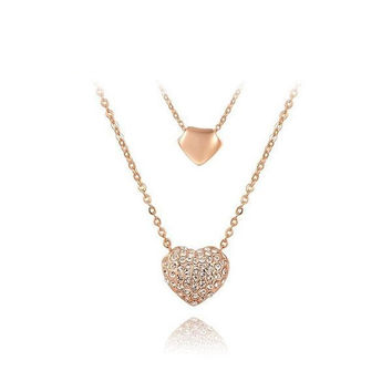 New Arrival Shiny Stylish Jewelry Gift Strong Character Heart Pendant Necklace [9281915204]