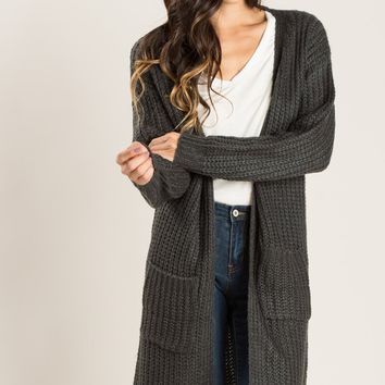 Paige Charcoal Knit Cardigan