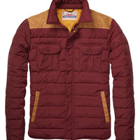 Quilted Shirt Jacket In Mixed Qualities - Scotch & Soda