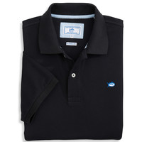 Short Sleeve Skipjack Polo in Midnight Black by Southern Tide