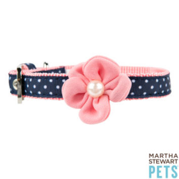 Martha Stewart Pets® Polka Dot Buckle Dog Collar