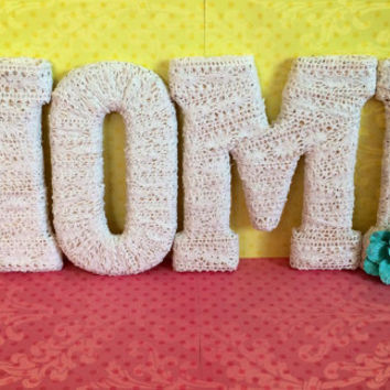 Home Letters-Handmade Decorative Letter Set by Tightly Wound Designs
