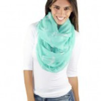 Mint  Anchor Infinity Scarf