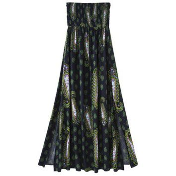 Xhilaration® Juniors Smocked Strapless Maxi Dress - Assorted Colors