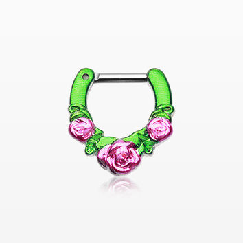 Colorline Rose Garden Icon Septum Clicker