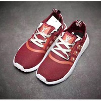 Adidas NMD x LV Louis Vuitton Women Fashion Breathable Running Sneakers Sport Shoes