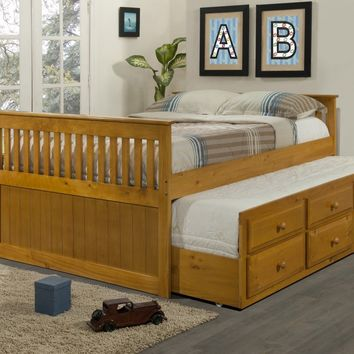 Isaac Full Size Captains Bed with Drawers and Trundle