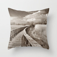 The bridge of the lake. Vintage. Throw Pillow by Guido Montañés | Society6