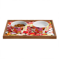 Rosie Brown Blooms Pet Bowl and Tray